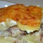 Картофельная запеканка со скумбрией.