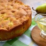 Медово - грушевый пирог.