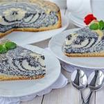 Пирог с творогом и маком.