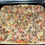 Вкуснющая пицца за 20 минут.