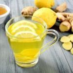 Имбирный чай при снижении веса пейте!