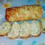 Рулет из кабачков с сыром и чесноком.