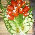 """Салат """"Тюльпаны"""".  Приготовление:"""