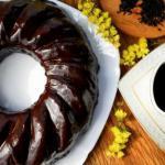 Шоколадный чайный пирог.