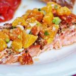 Филе лосося с апельсинами.