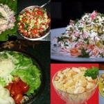 6 простых салатиков на праздничный стол.
