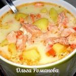 Финский суп с лососем и сливками.