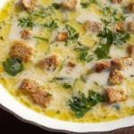 Лёгкий, тёплый, нежный суп в холодные осенние дни.