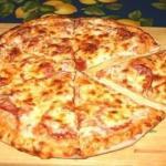Быстрая пицца.  Иногда нет времени на дрожжевое тесто, а пиццы хочется прямо срочно.