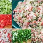 """Салат """"Море"""".  Салат получается вкусным, хрустящим и очень сочным."""